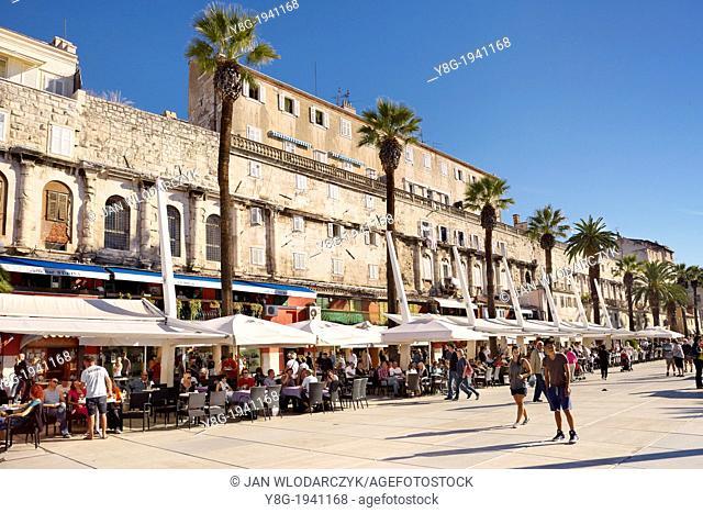 Croatia - Split Old Town, restored walls of the Diocletian Palace, Dalmatia, Croatia