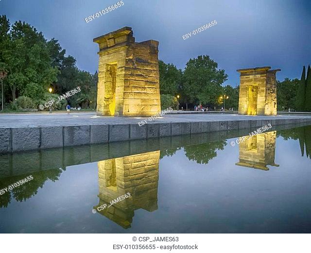 Egyptian Temple of Debod in Madrid, Spain
