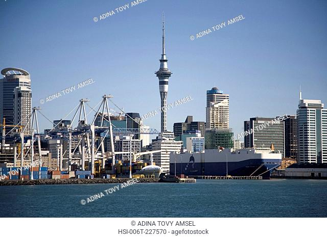 Auckland City Skyline. New Zealand