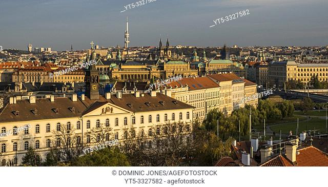 The rooftops of Prague, Czech Republic, Europe