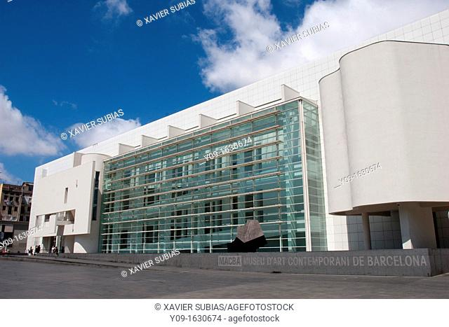 Museu d'Art Contemporani de Barcelona, MACB, Architect Richard Meier, Barcelona, Catalonia, Spain