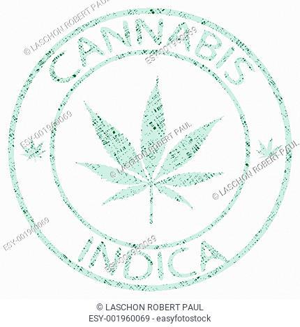 cannabis indica stamp