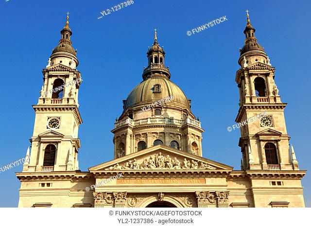 St Stephen's Basilica,  Szent Istvan Bazilika  , Neo Classical building, Budapest, Hungary