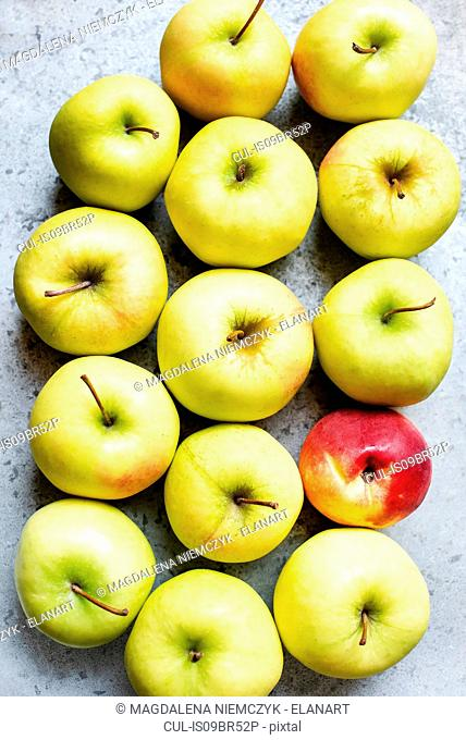 Golden apples and one peach