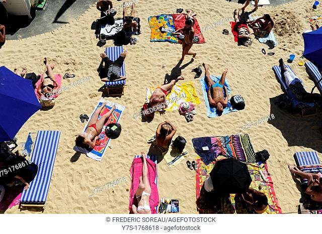 Paris Beach  Paris Plages is a free summer event that transforms several spots in Paris into full-fledged beaches, France, Europe