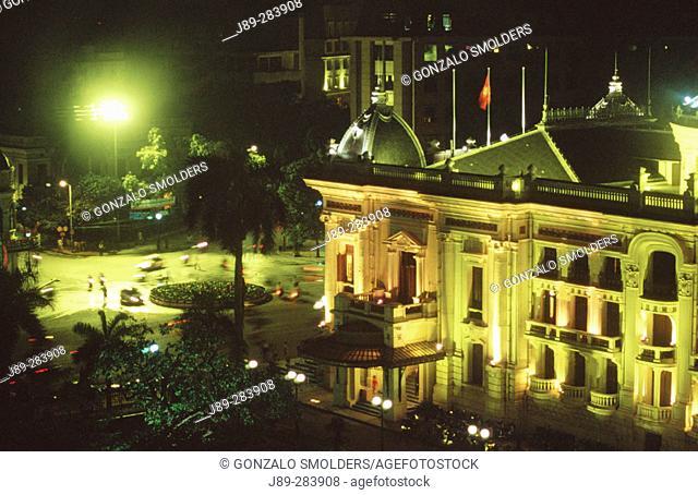 Hanoi Opera at night. Hanoi. Vietnam