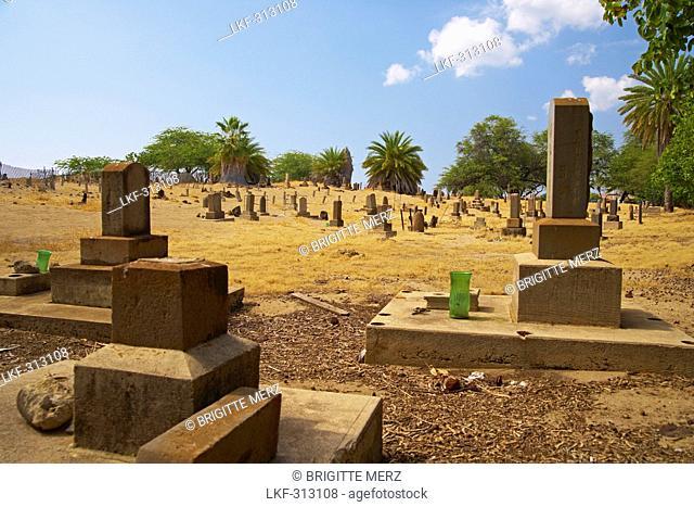 Gravestones on Japanese cemetery, Maui, Hawaii, USA, America