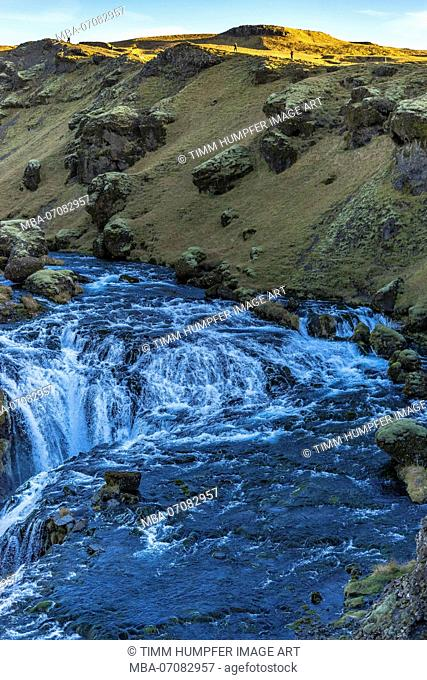 Europe, Northern Europe, Iceland, Skógar, Highlands, massive River in the Icelandic Highlands