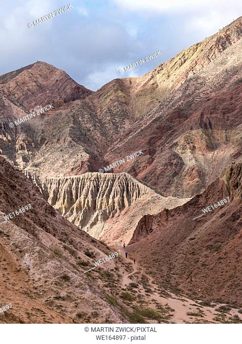 Colorful mountains near the village Purmamarca in the canyon Quebrada de Humahuaca. The Quebrada is listed as UNESCO world heritage site