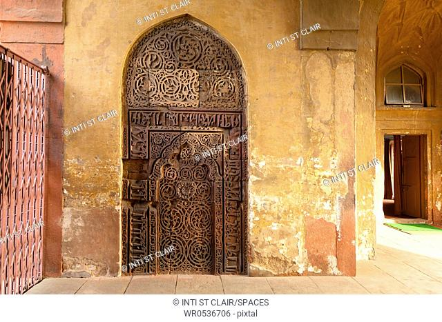 Arched Door in the Red Fort