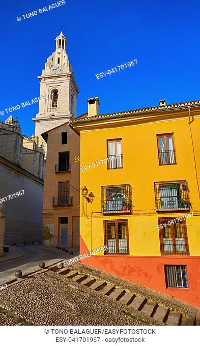 Santa Maria church in Xativa also Jativa of Valencia at Spain