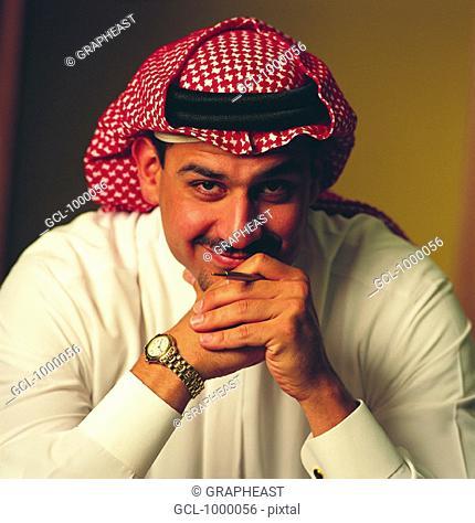 Portrait of an Arab businessman