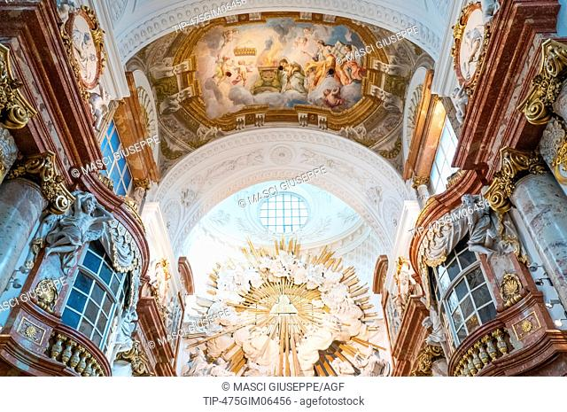 Austria, Vienna, Paintings and decorations of the nave of the Karls (St Carlo Borromeo) church