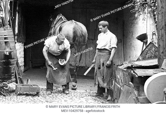 Lyme Regis, the Blacksmith 1909