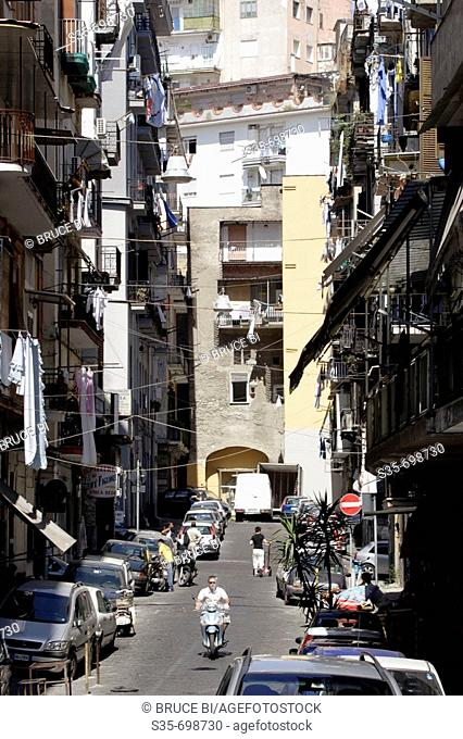 A back street of historic center of Naples. Campania. Italy