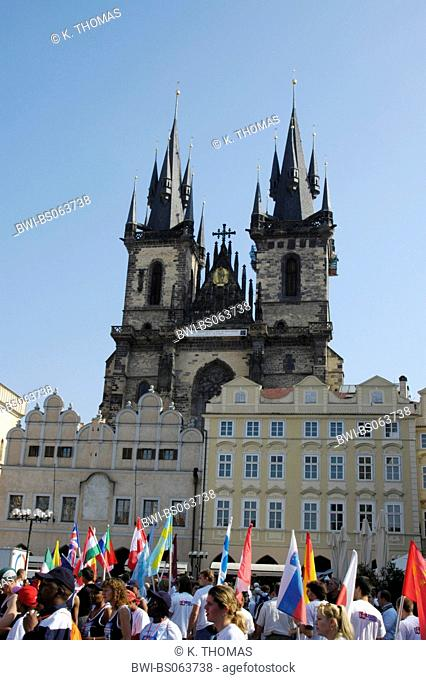 Prague, city center, Teyn Church, Czech Republic, Prague