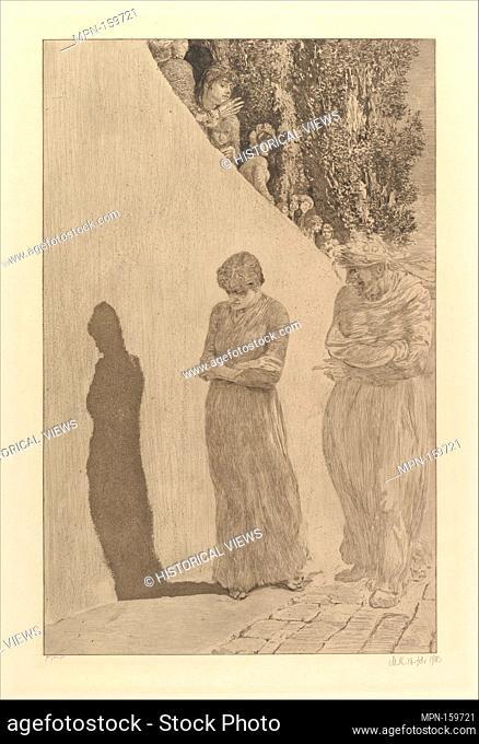 Shame (from the series A Love). Artist: Max Klinger (German, Leipzig 1857-1920 Großjena); Publisher: Wilhelm Felsing; Date: 1887-1903; Medium: Etching and...