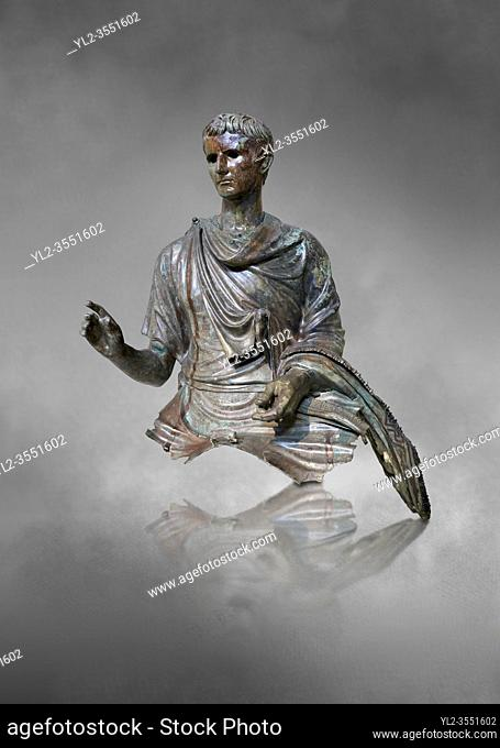 Roman bronze statue fragment of emperor Augustus, Circa 12-10 BC, found in the Agean sea of the Island of Euboea, Athens National Archaeological Museum