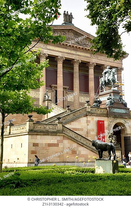 The National Gallery of Neoclassical art on Bodenstrasse in Berlin, Germany