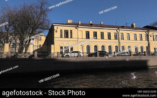 Moika river boat trip. Saint Petersburg Russia Europe