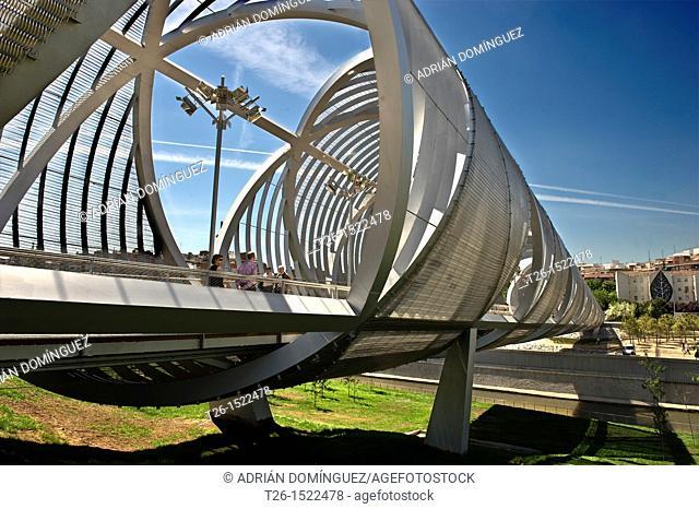 Puente de la Arganzuela over Manzanares river (architect:Dominique Perrault) . Madrid, Spain