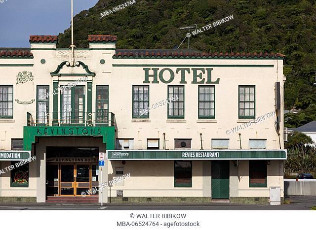 New Zealand, South Island, West Coast, Greymouth, Revingtons Hotel