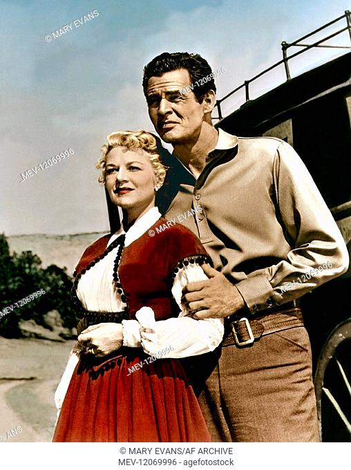 Claire Trevor & Robert Ryan Characters: Lily & Jeff Clanton Film: Best Of The Badmen (1951) Director: William D. Russell 09 August 1951