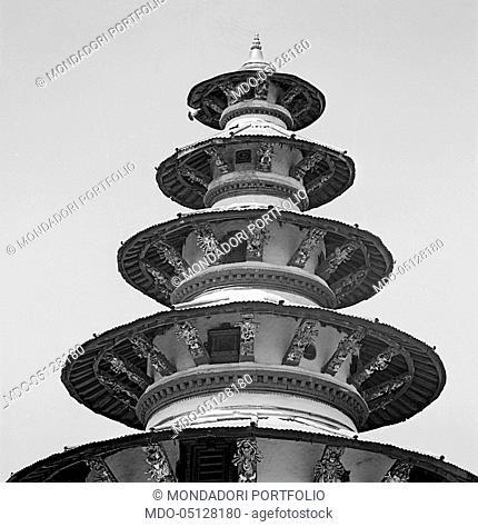 Nepalese temple. Nepal, 1965