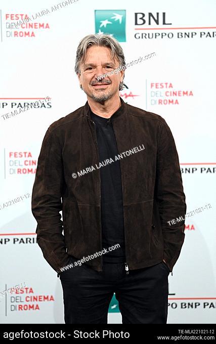 The director Arnaldo Catinari during the photocall of film 'Vita da Carlo' at the 16th Rome Film Festival, Rome, ITALY-22-10-2021
