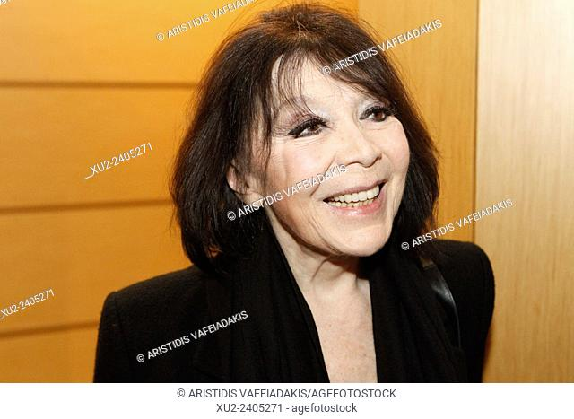 French singer and actress JULIETTE GRECO concert in Athens