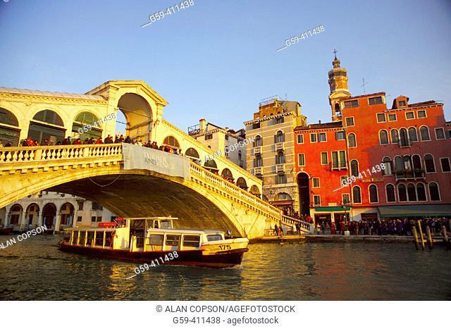 Italy. Venice. Grand Canal. Rialto Bridge