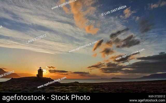 Lighthouse at Saudárkrókur. Iceland