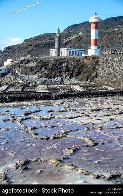 salt winning at Fuencaliente on La Palma island, Spain