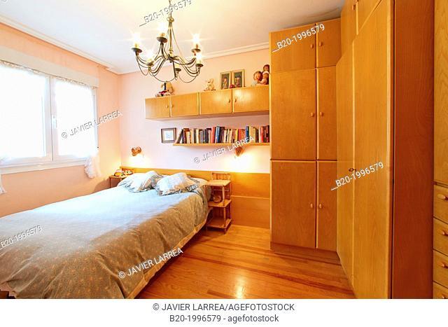 Bedroom, Interior design, Home. Basque Country. Spain