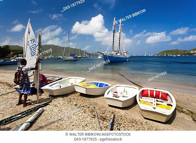 St  Vincent and the Grenadines, Bequia, Port Elizabeth, Admiralty Bay, sailing school, NR