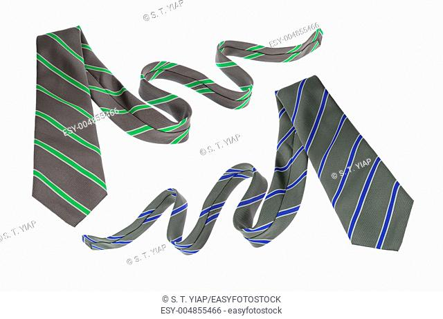Neckties on White Background