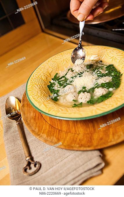 italian wedding soup preparation