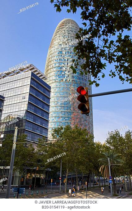 Agbar Tower, Plaça de les Glòries, Barcelona, Catalunya, Spain, Europe