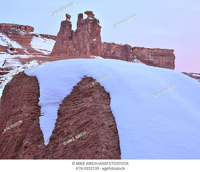 Gossips, Winter, Arches National Park, UT