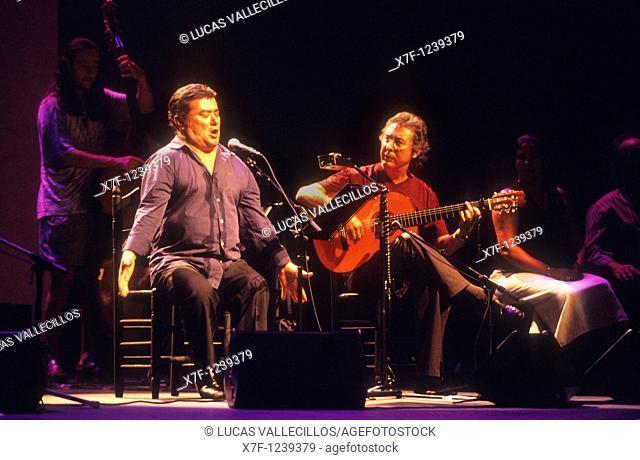 José Menese Scott  Flamenco Singer  Lope de Vega theatre  Seville, Andalusia, Spain