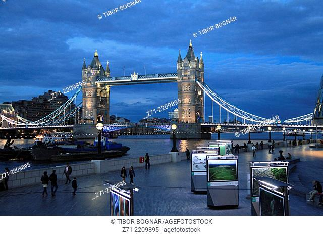 UK, England, London, Tower Bridge,