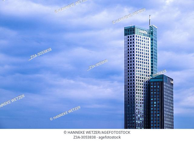 Netherlands, County of Holland, Rotterdam, View to AKD Maastoren, Kop van Zuid