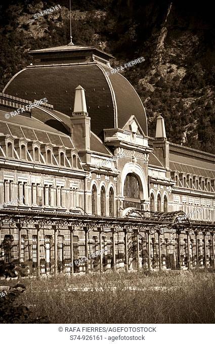 Antigua estación de Canfranc, Huesca, Spain