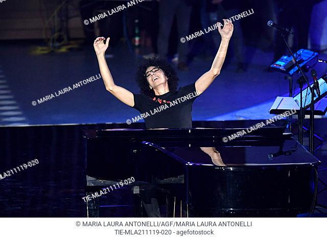 Giovanni Allevi during the charity show ' Una serata di stelle' for the Hospital Bambino Gesu', Paul VI Hall, Vatican City, ITALY-20-11-2019