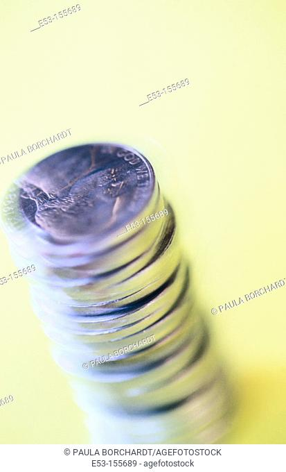 Stack of American nickels