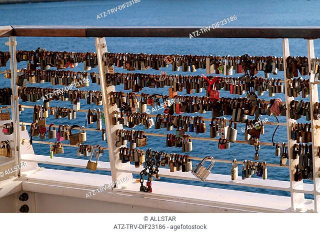 LOVE PADLOCKS AT TIGNE POINT; SLIEMA, MALTA; 05/12/2013