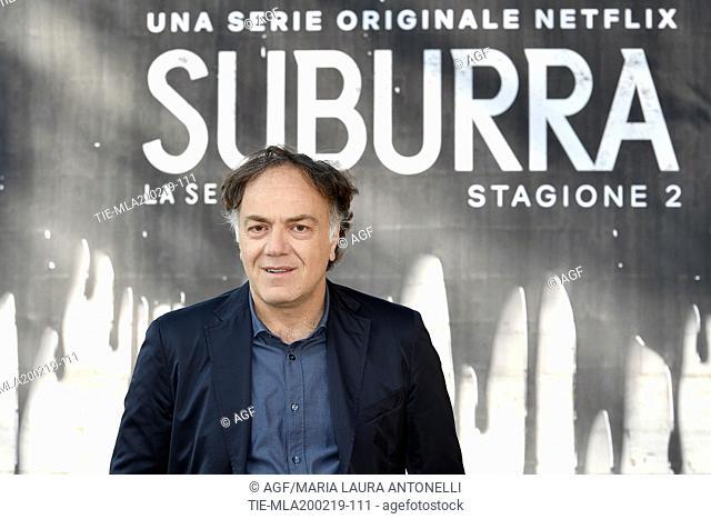 Francesco Acquaroli during photocall of the second season of Italian fiction 'Suburra', Rome 20-02-2019