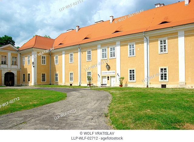 Courtyard of Duchcov Chateau, Usti nad Labem Region, Czech Republic