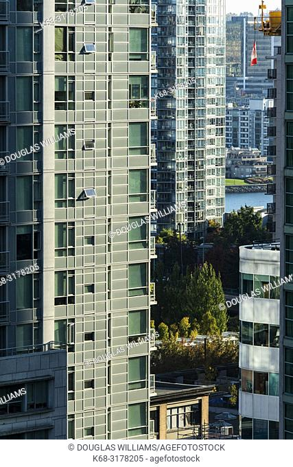 apartment towers in downtown Vancouver, BC, Canada