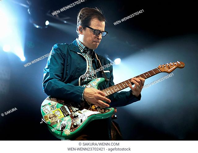 Weezer Performing at Manchester Academy Featuring: Weezer, Rivers Cuomo Where: Manchester, United Kingdom When: 03 Apr 2016 Credit: Sakura/WENN.com